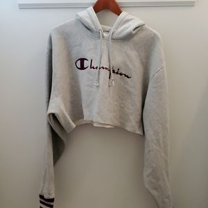 Champion - Urban Outfitters Cropped Hoodie Large